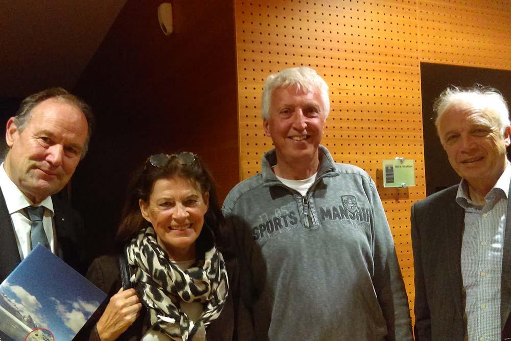 Club50aktiv-Society president Dr. Franz Pegger, Doris Hofmann, DI Christian Klenkhart, Dkfm. Dr. Rolf Kapferer