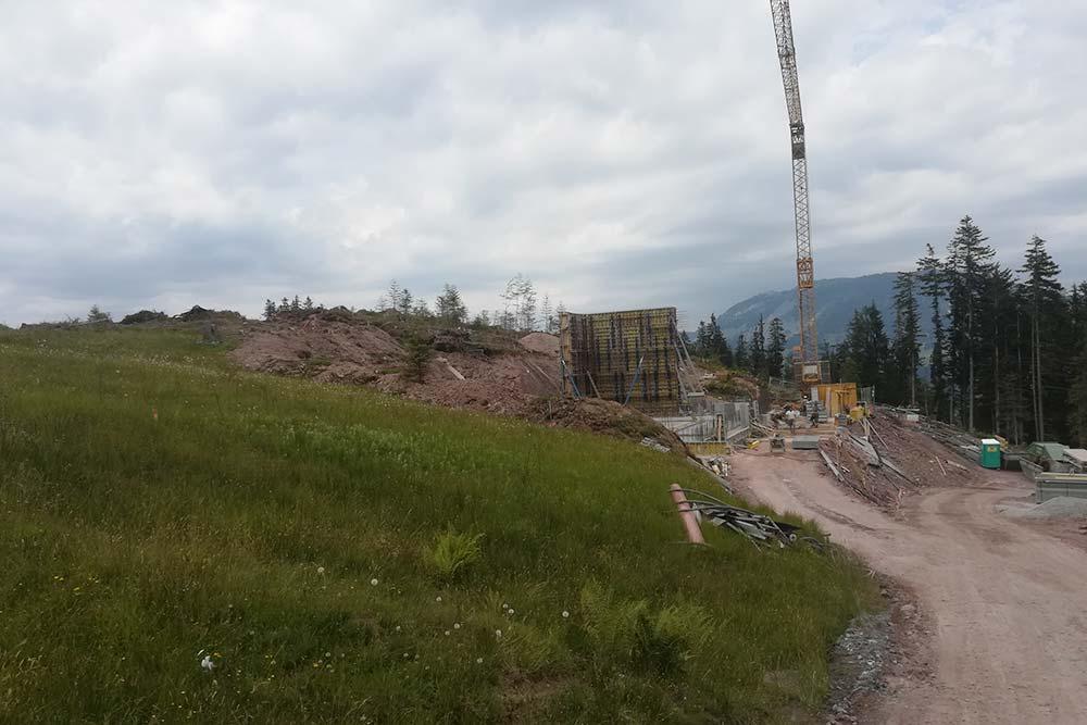 Fieberbrunn water reservoir extension