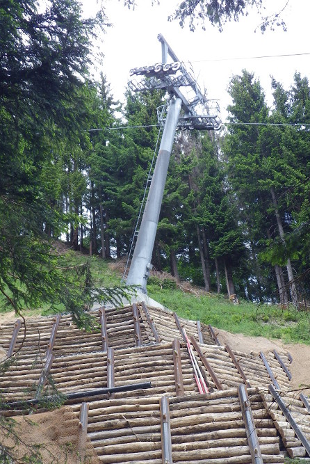 Sanierung Rutschung Stütze 4 Hörnerbahn